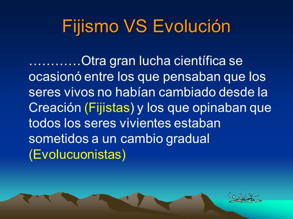 Fijismo VS Evolución