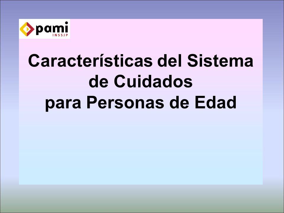 Características del Sistema de Cuidados para Personas de Edad