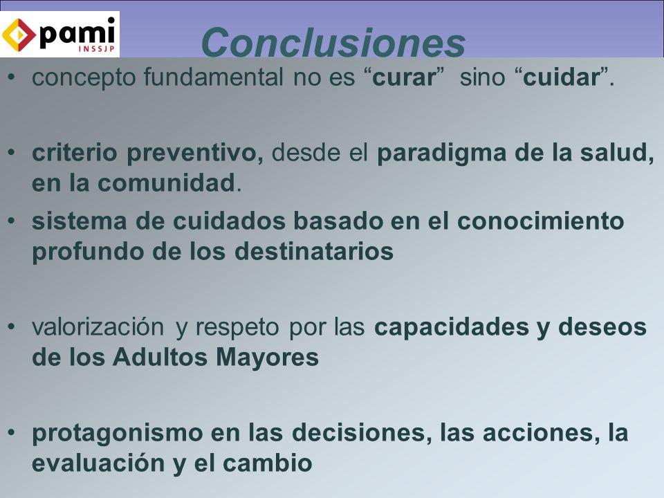Conclusiones concepto fundamental no es curar sino cuidar .