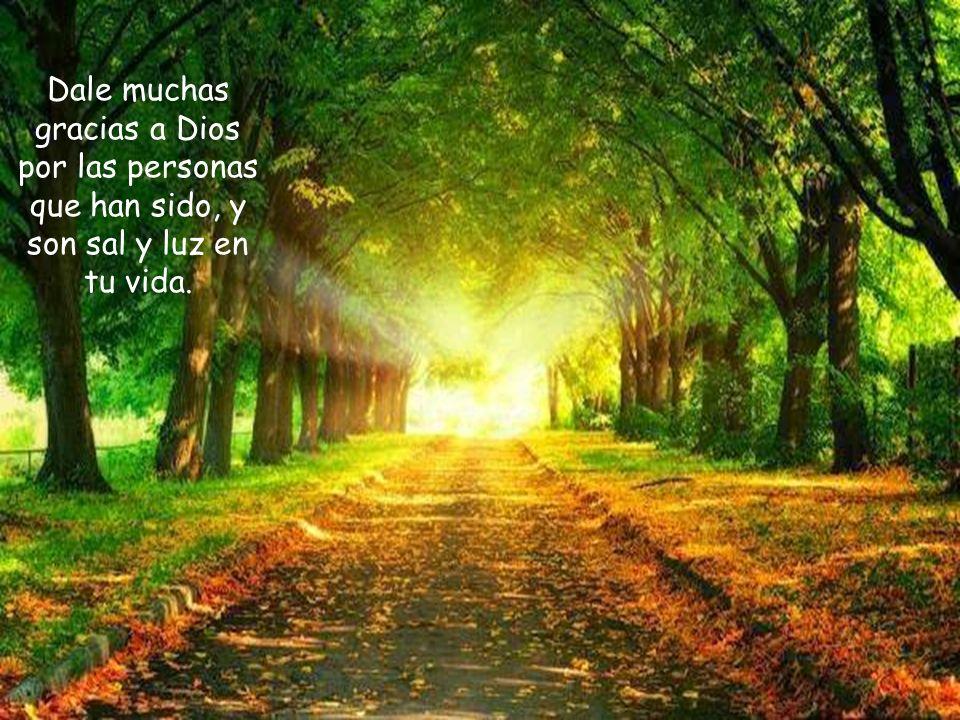 Dale muchas gracias a Dios por las personas que han sido, y son sal y luz en tu vida.