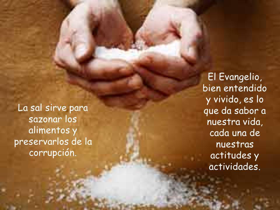 El Evangelio, bien entendido y vivido, es lo que da sabor a nuestra vida, cada una de nuestras actitudes y actividades.