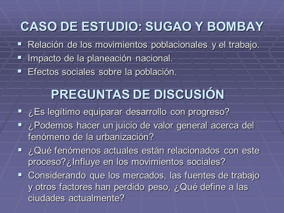 CASO DE ESTUDIO: SUGAO Y BOMBAY