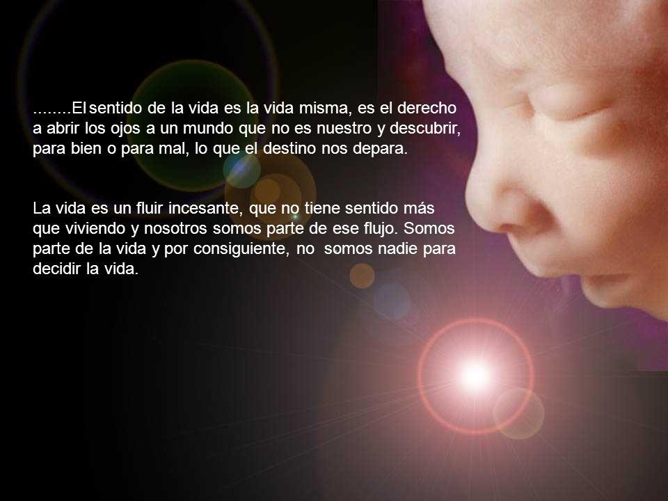 ........El sentido de la vida es la vida misma, es el derecho