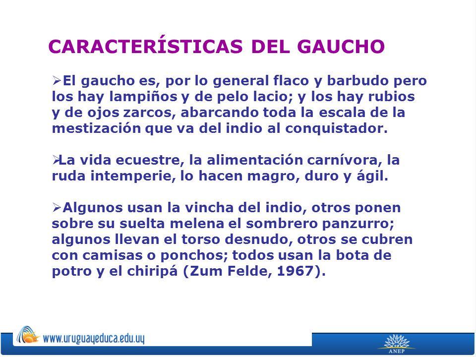 CARACTERÍSTICAS DEL GAUCHO