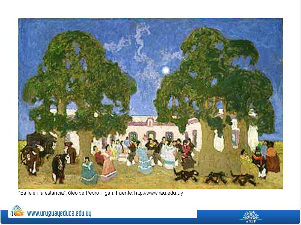 Baile en la estancia , óleo de Pedro Figari. Fuente: http://www. rau