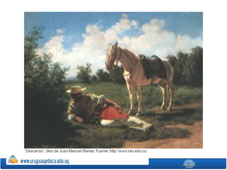 Descanso , óleo de Juan Manuel Blanes. Fuente: http://www.rau.edu.uy