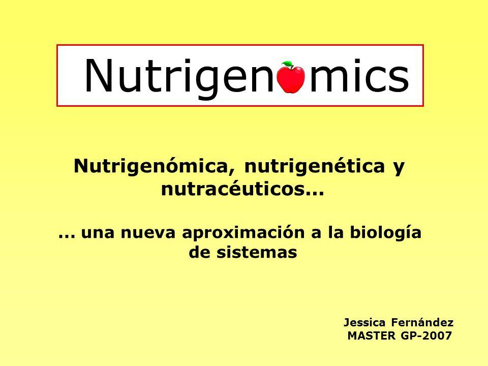 Nutrigen mics Nutrigenómica, nutrigenética y nutracéuticos...