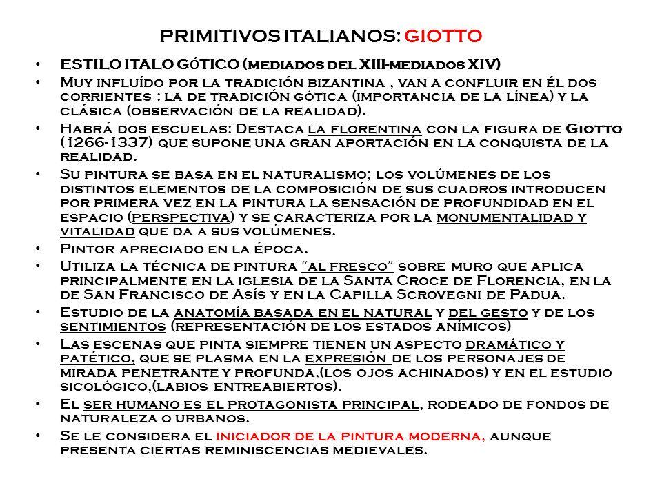 PRIMITIVOS ITALIANOS: GIOTTO