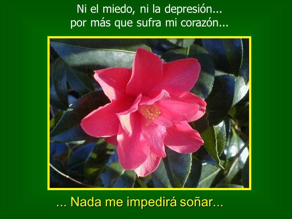 Ni el miedo, ni la depresión... por más que sufra mi corazón...