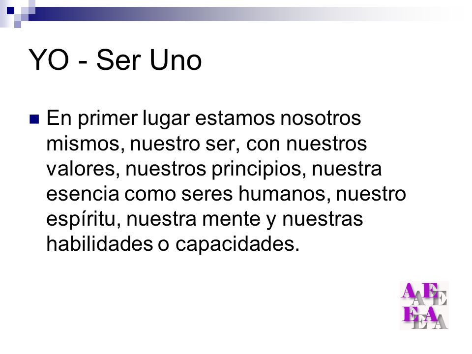 YO - Ser Uno