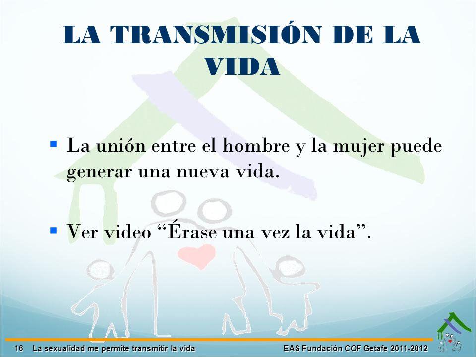 LA TRANSMISIÓN DE LA VIDA