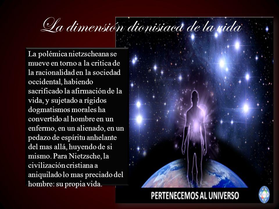 La dimensión dionisiaca de la vida