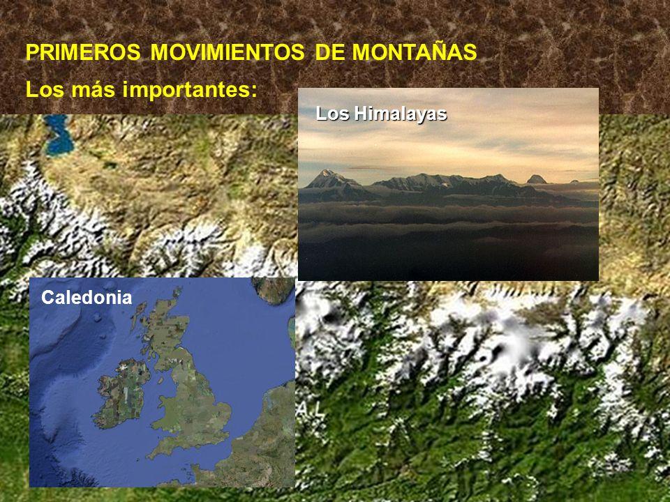 PRIMEROS MOVIMIENTOS DE MONTAÑAS
