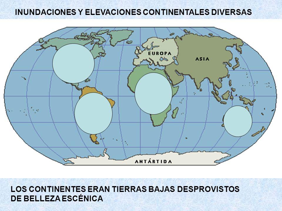 INUNDACIONES Y ELEVACIONES CONTINENTALES DIVERSAS