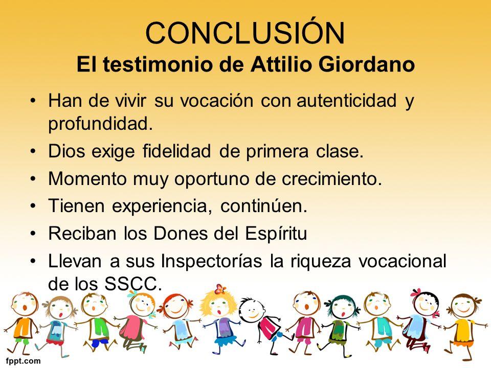 CONCLUSIÓN El testimonio de Attilio Giordano