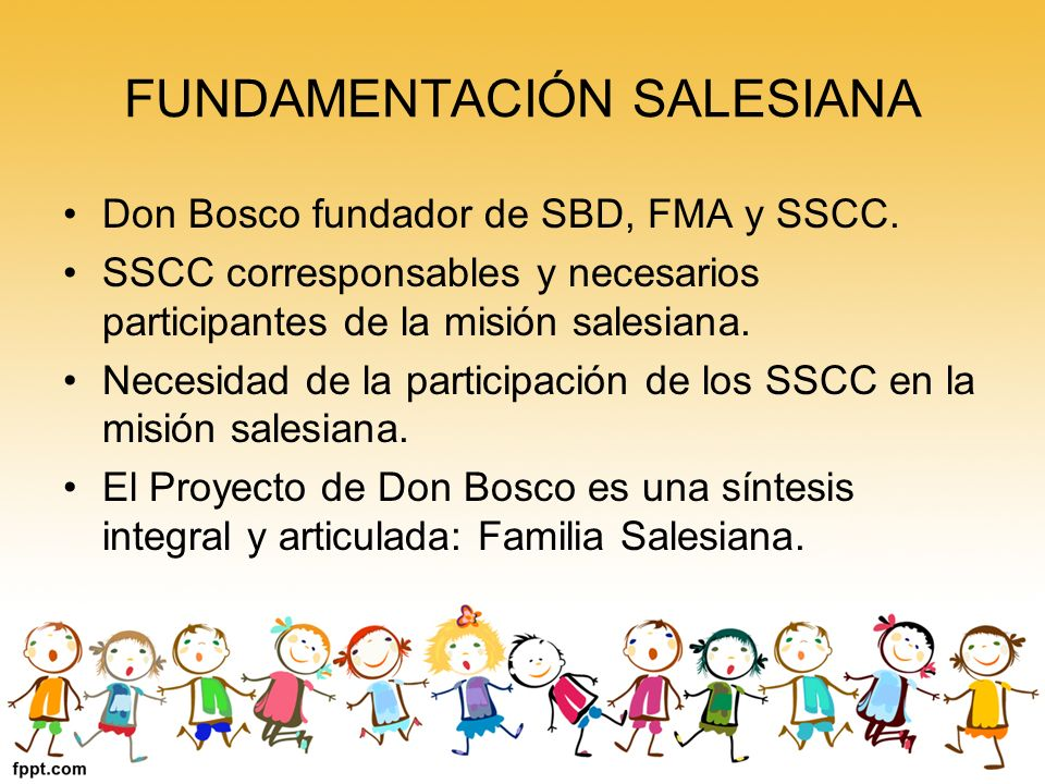 FUNDAMENTACIÓN SALESIANA
