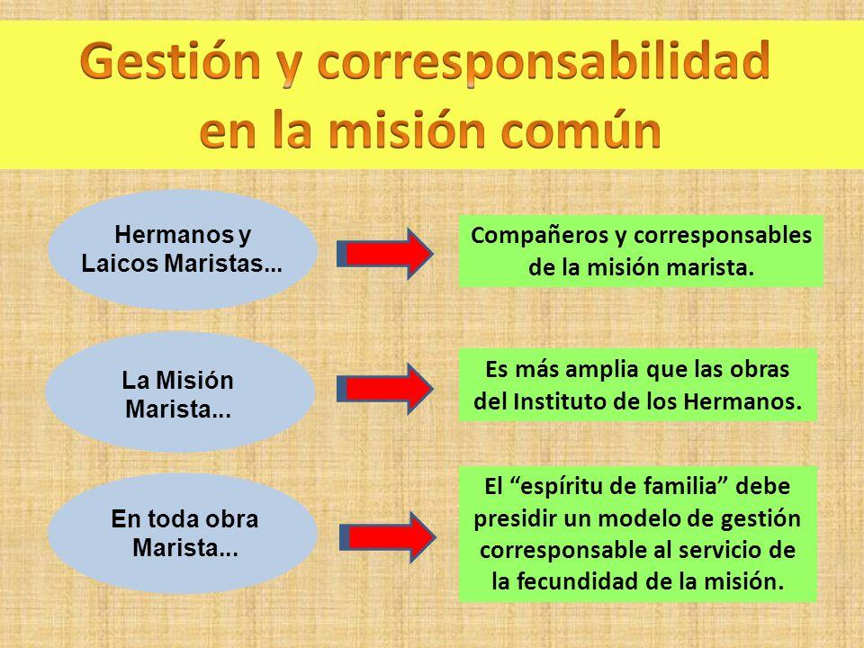 Gestión y corresponsabilidad en la misión común