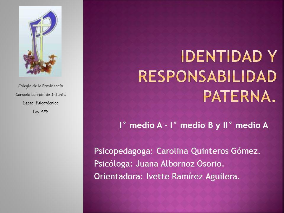 Identidad y responsabilidad paterna.
