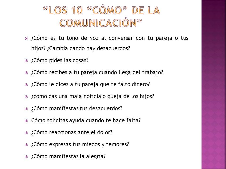 LOS 10 CÓMO DE LA COMUNICACIÓN