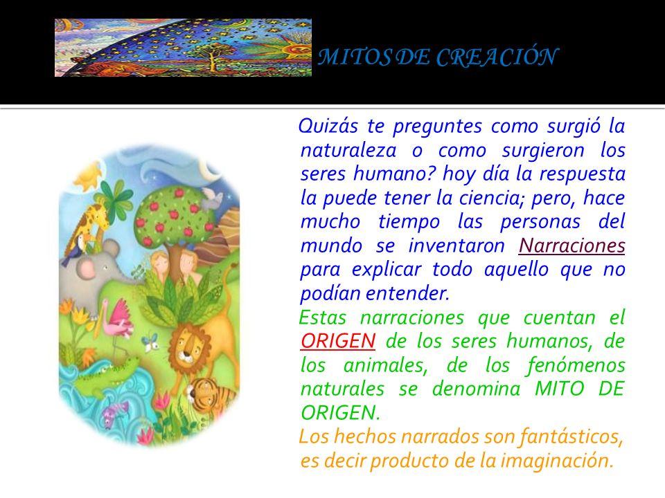 MITOS DE CREACIÓN