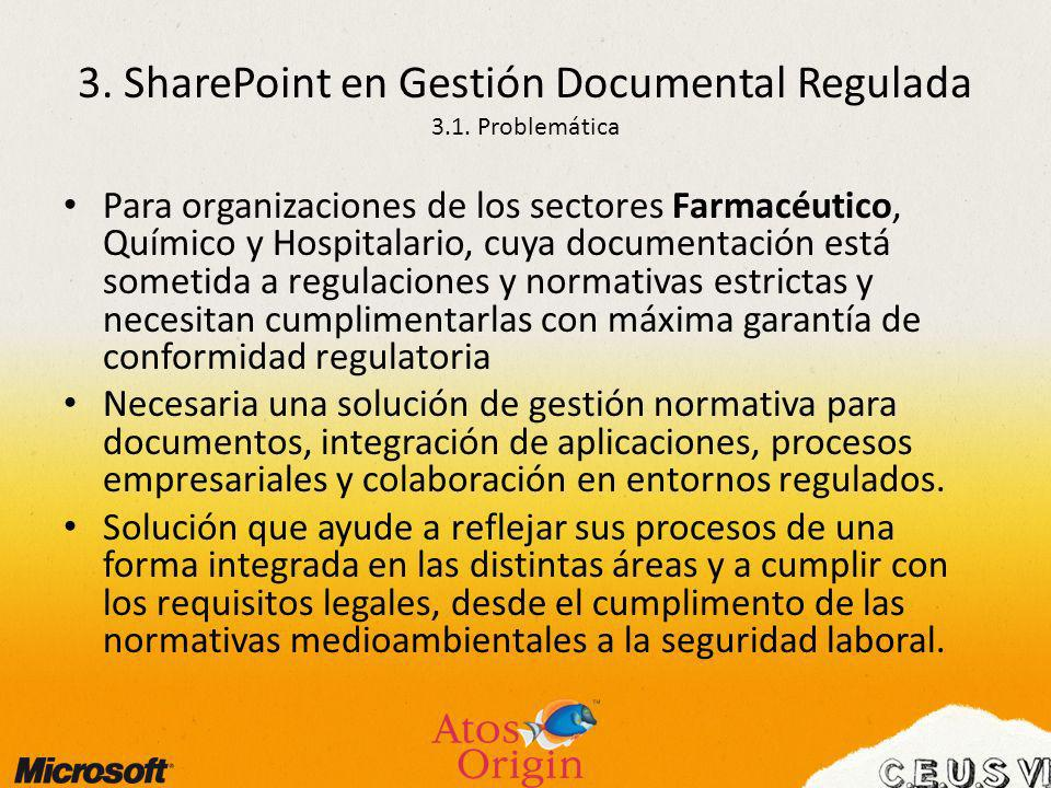 3. SharePoint en Gestión Documental Regulada 3.1. Problemática
