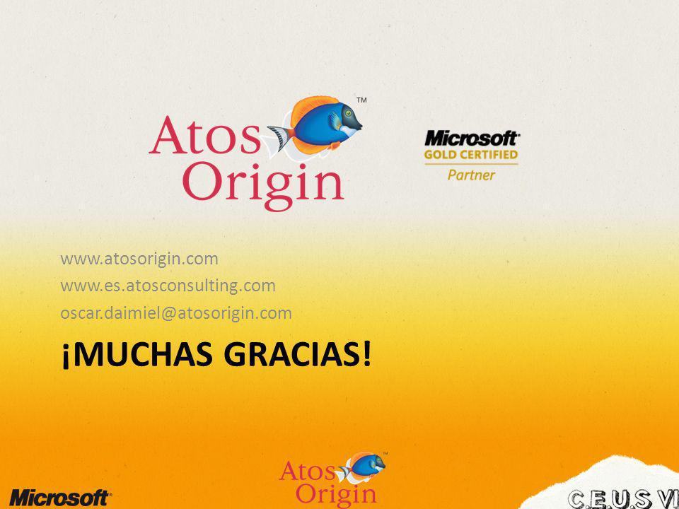 ¡MUCHAS GRACIAS! www.atosorigin.com www.es.atosconsulting.com