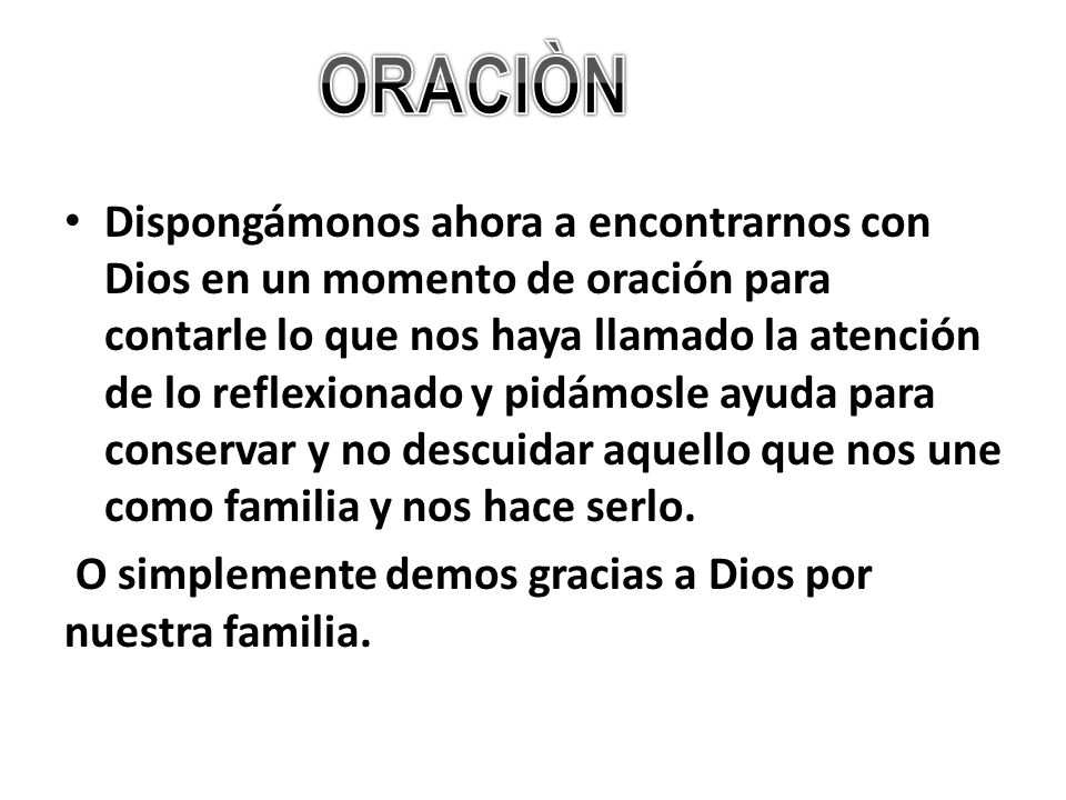 ORACIÒN
