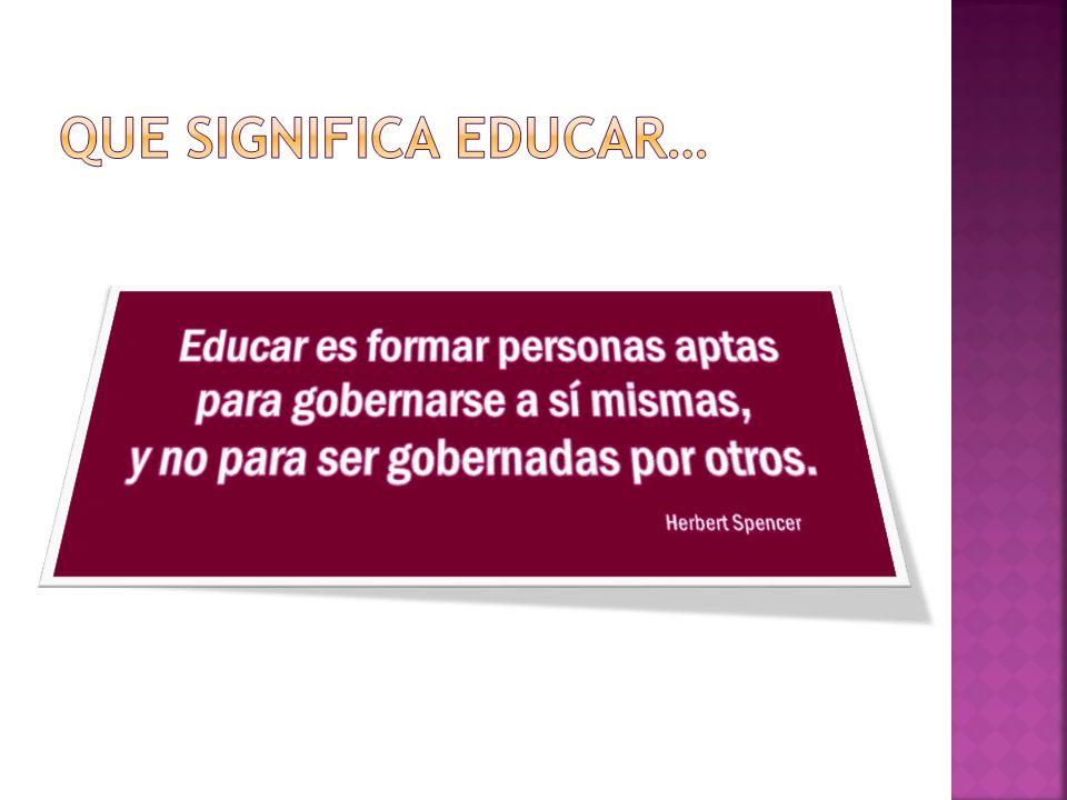 Que significa educar…