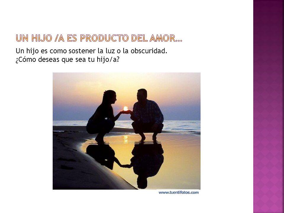 Un hijo /a es producto del amor…