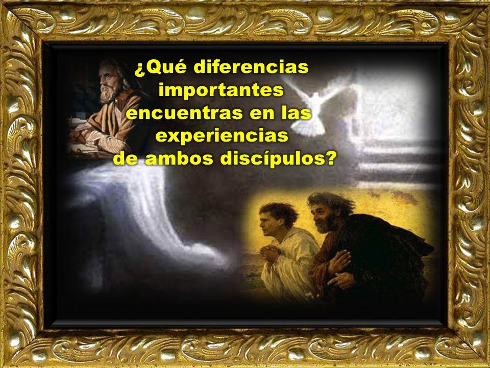 ¿Qué diferencias importantes encuentras en las experiencias de ambos discípulos