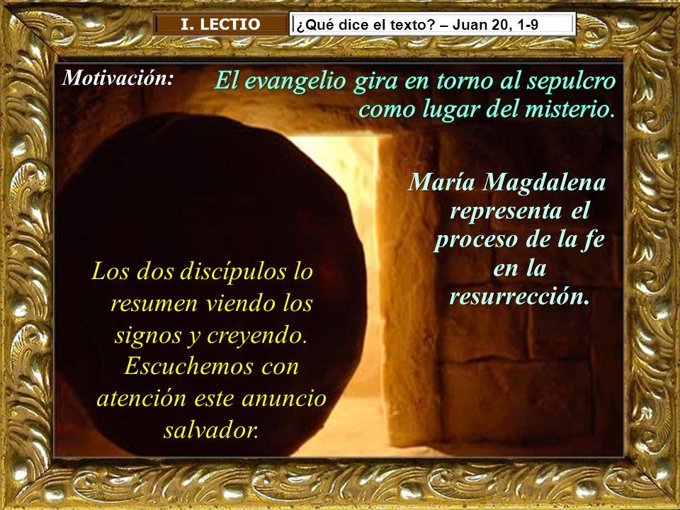 María Magdalena representa el proceso de la fe en la resurrección.