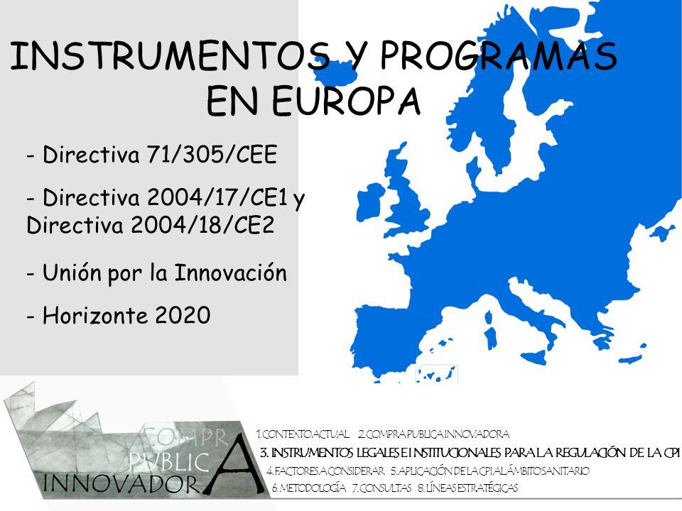 INSTRUMENTOS Y PROGRAMAS EN EUROPA