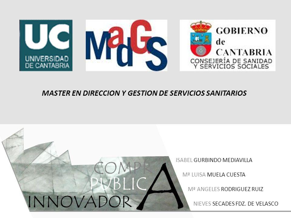 MASTER EN DIRECCION Y GESTION DE SERVICIOS SANITARIOS