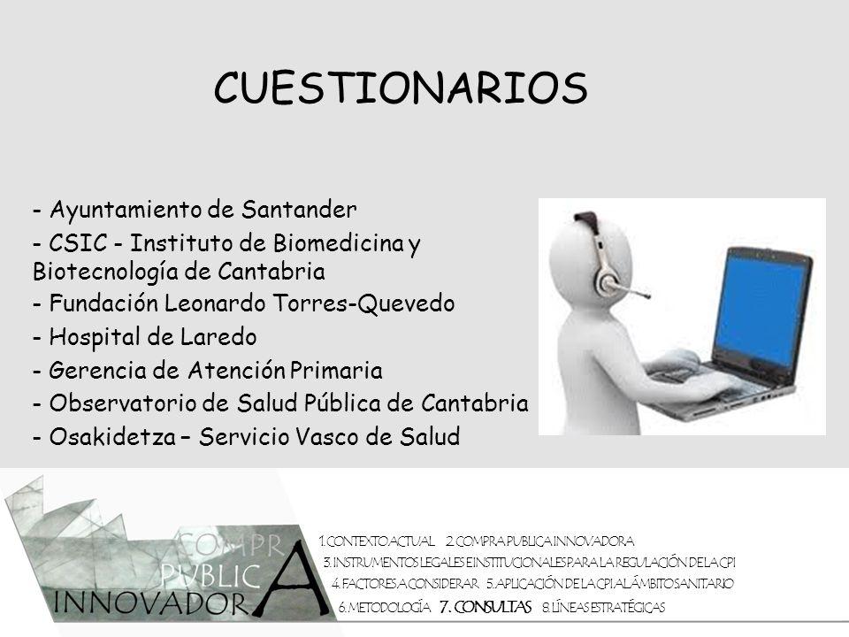 CUESTIONARIOS - Ayuntamiento de Santander