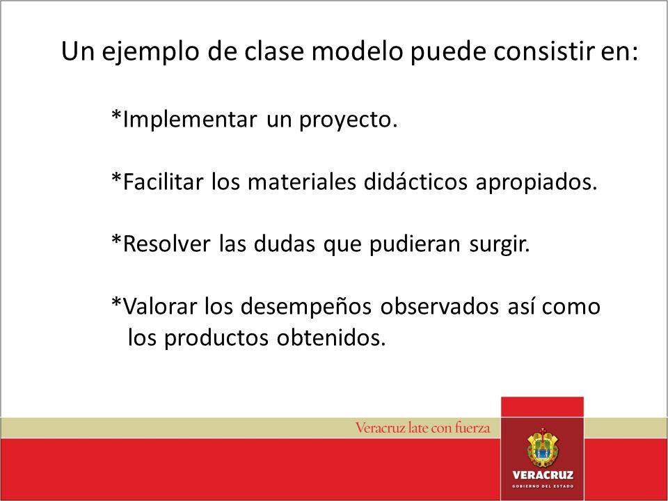 Un ejemplo de clase modelo puede consistir en: