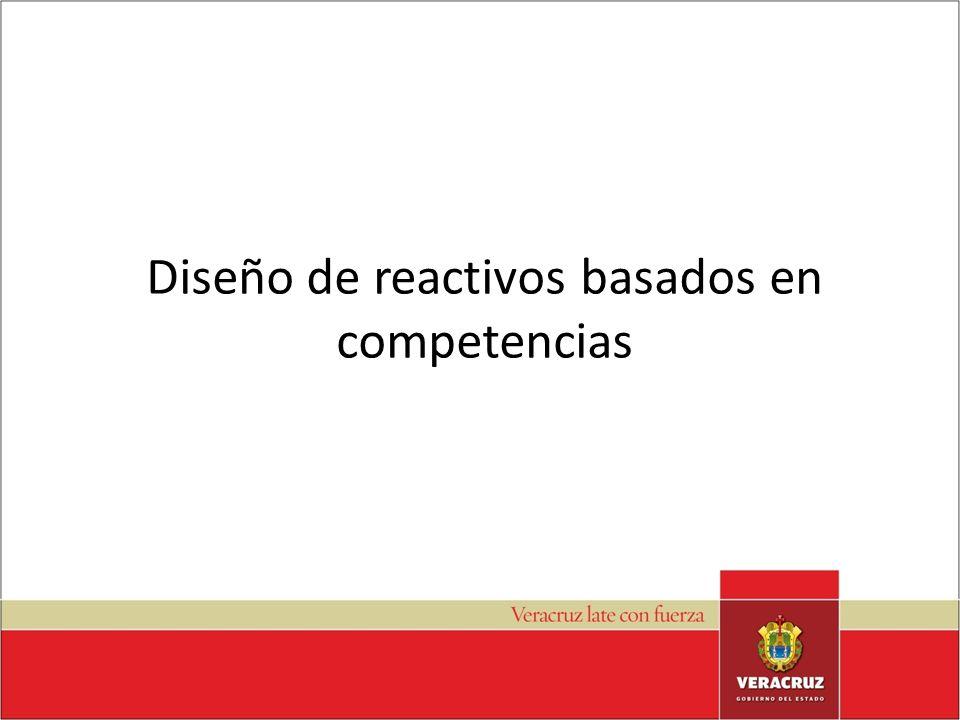 Diseño de reactivos basados en competencias