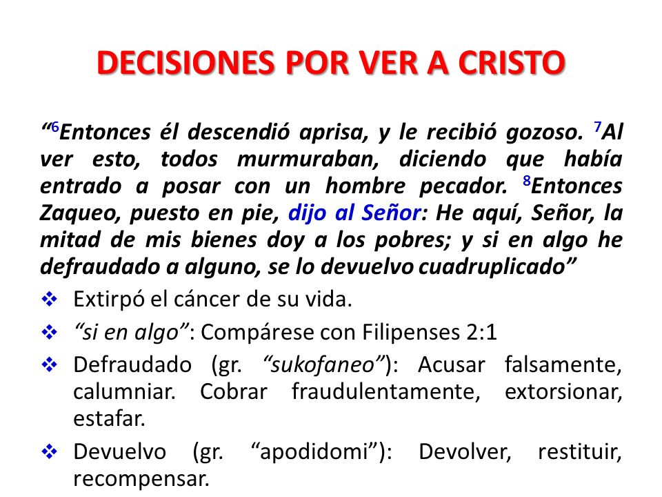 DECISIONES POR VER A CRISTO