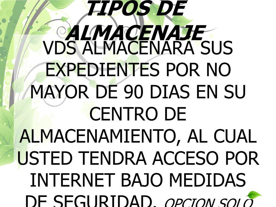 TIPOS DE ALMACENAJE
