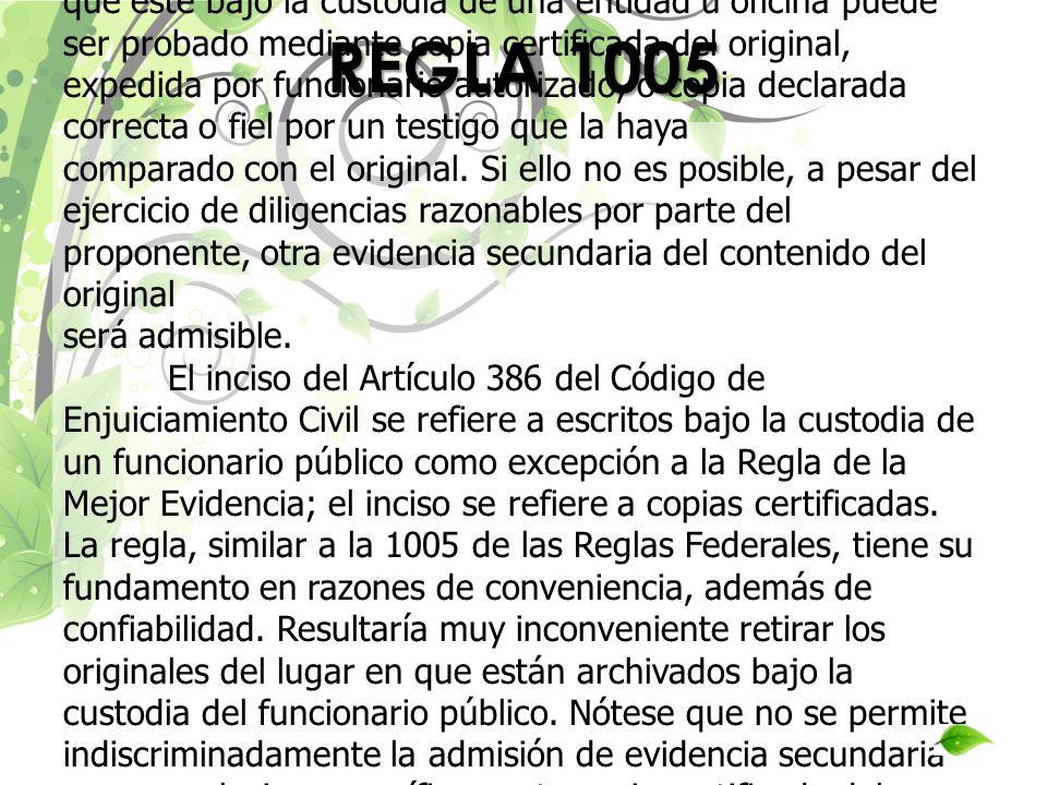 REGLA 1005
