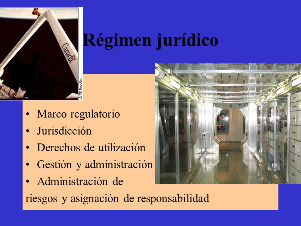 Régimen jurídico Marco regulatorio Jurisdicción