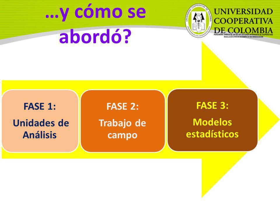 …y cómo se abordó FASE 1: Unidades de Análisis FASE 2: