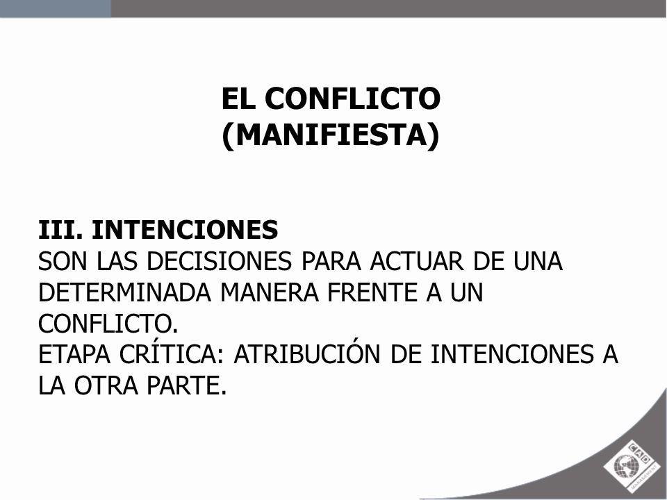 EL CONFLICTO (MANIFIESTA)