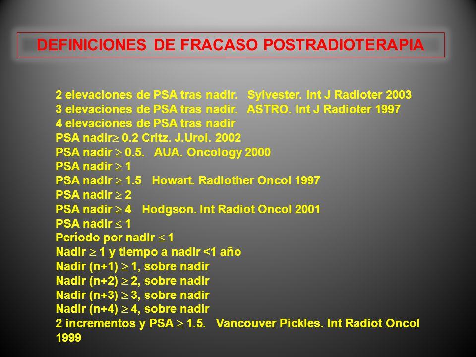 DEFINICIONES DE FRACASO POSTRADIOTERAPIA