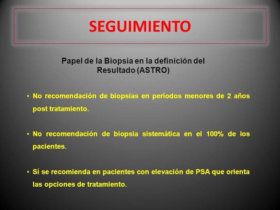 Papel de la Biopsia en la definición del Resultado (ASTRO)