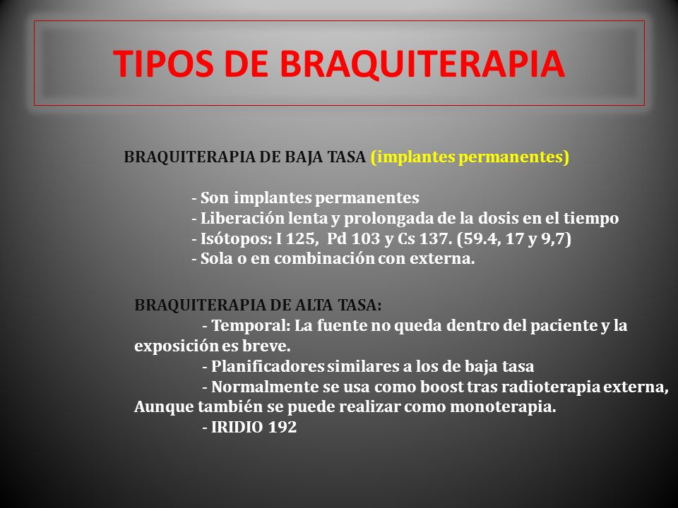 TIPOS DE BRAQUITERAPIA