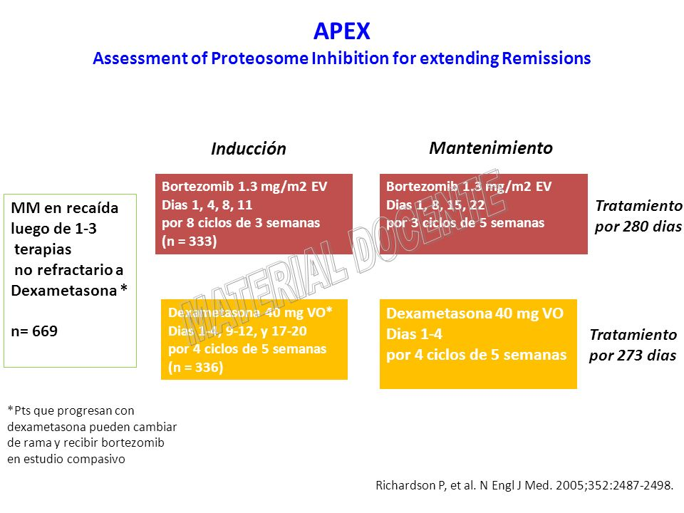 APEX Assessment of Proteosome Inhibition for extending Remissions