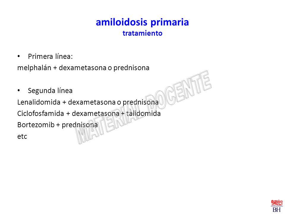 amiloidosis primaria tratamiento