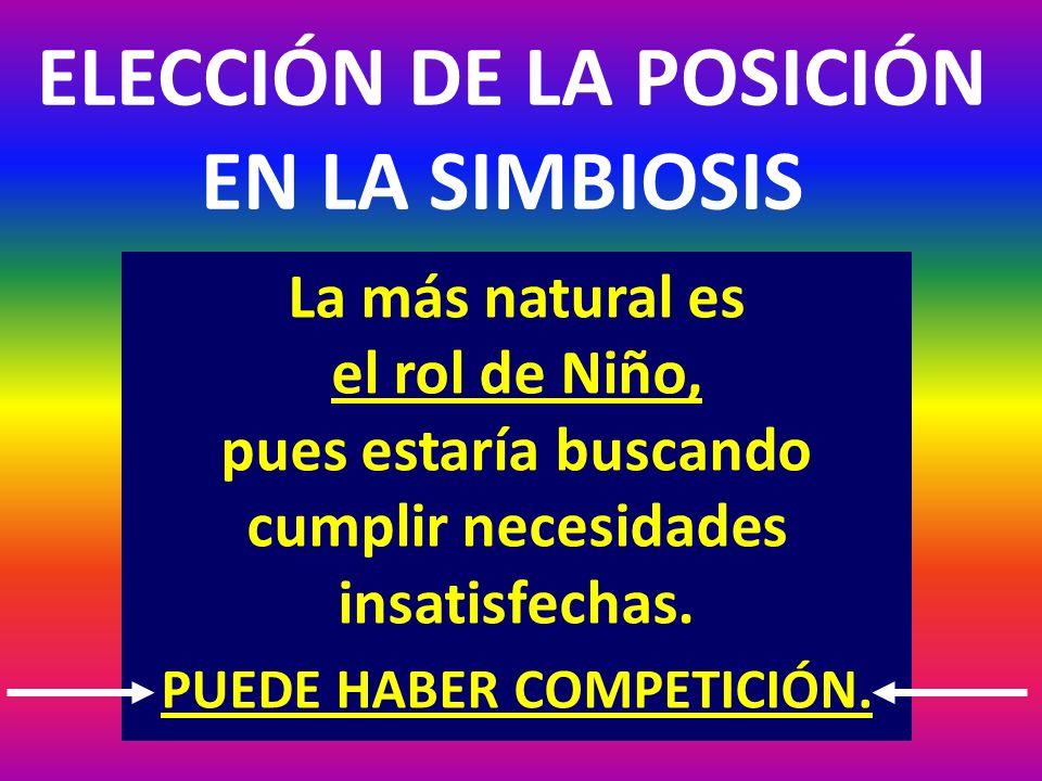 ELECCIÓN DE LA POSICIÓN EN LA SIMBIOSIS
