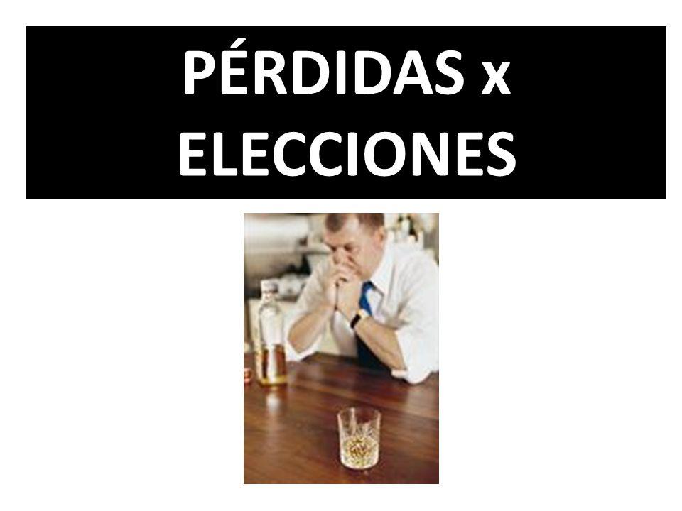 PÉRDIDAS x ELECCIONES