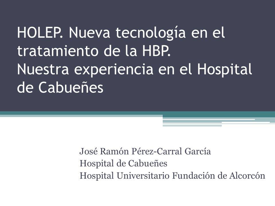 HOLEP. Nueva tecnología en el tratamiento de la HBP